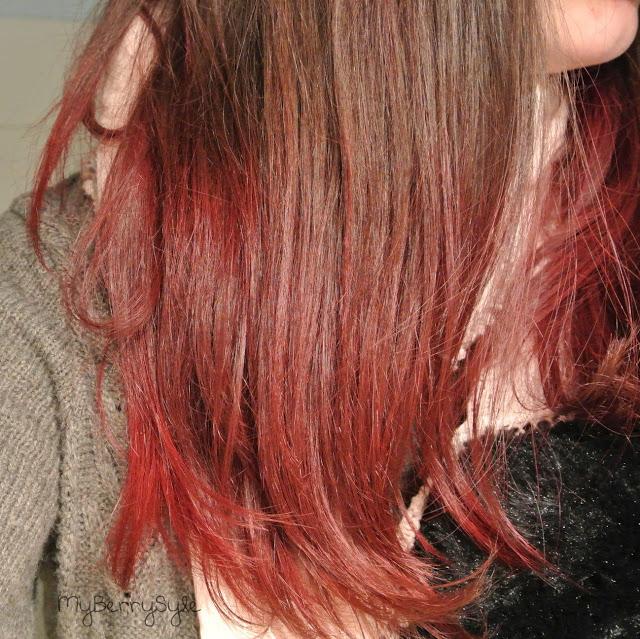 tie and dye rouge sur mes cheveux chatain fonc avec crazy. Black Bedroom Furniture Sets. Home Design Ideas