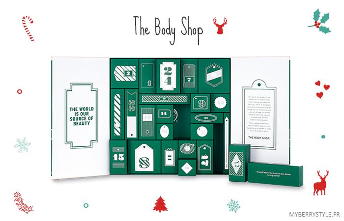 calendrier de l'avent 2015 beauté the body shop